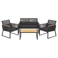 Noir 4 Piece Sofa Set | Home & Garden | George at ASDA