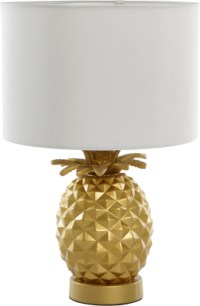 Pineapple Table Lamp - Gold | Home & Garden | George
