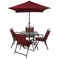 Miami 6 Piece Patio Set - Red | Home & Garden | George