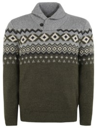 Chunky Knit Shawl Collar Jumper | Men | George