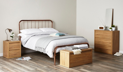Valerie Copper Bed - Double