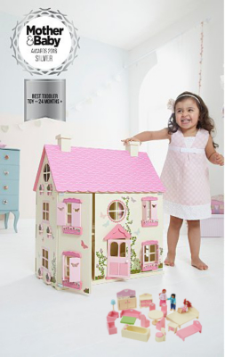 George Home Wooden Dolls House And Furniture Bundle