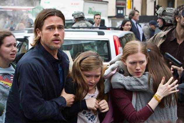 Bard Pitt (Gerry) y su familia