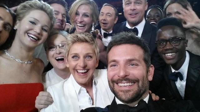 Mejor Selfie del año, con Meryl y Kevin.