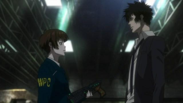 Akane, el dominador y Kogami