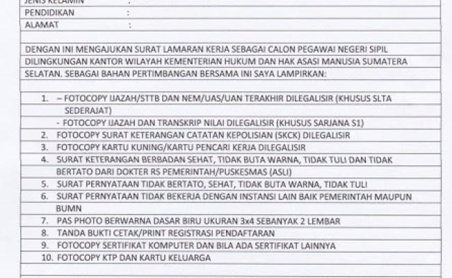 Contoh Surat Lamaran Pekerjaan Yang Baik Dan Benar Tulis Tangan Kumpulan Kerjaan Cute766