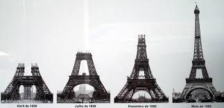 A Torre Eiffel foi construída para a Feira Mundial de 1889 e deveria ter sido desmontada depois