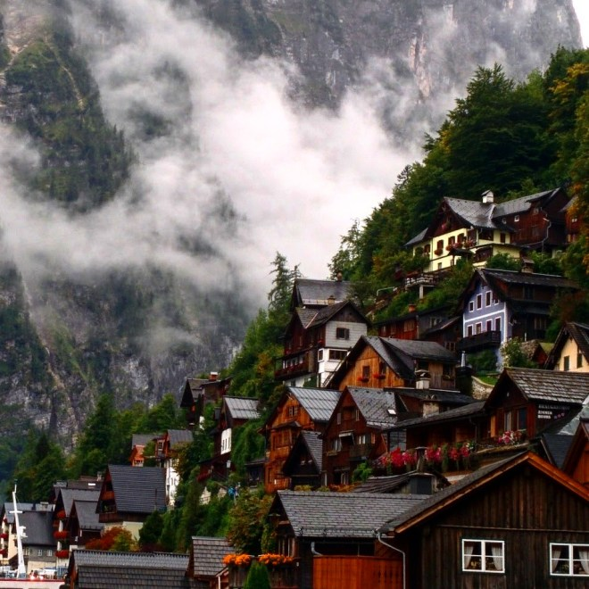 Hallstatt lago Áustria Alpes