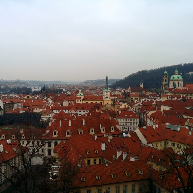 Vista do Castelo de Praga