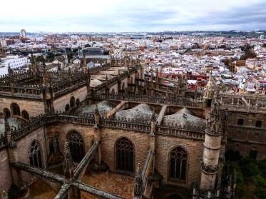 Catedral Sevilha vista do alto
