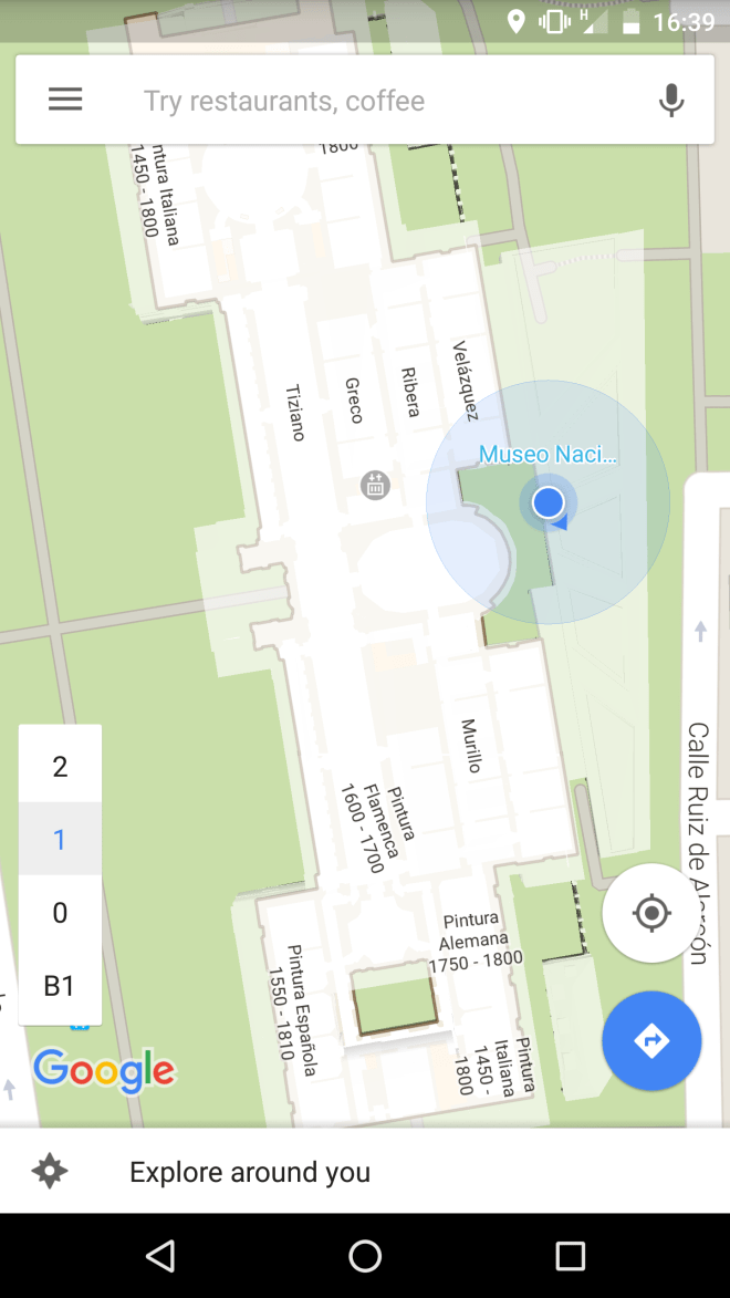 Screenshot Google Maps Android