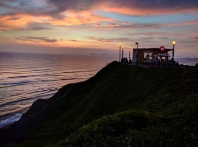 Lima Miraflores por do sol