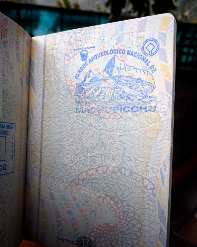 Página Passaporte Machu Picchu