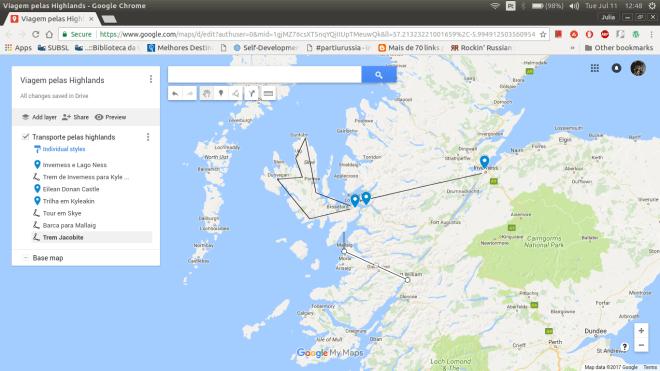 viagem pelas highlands