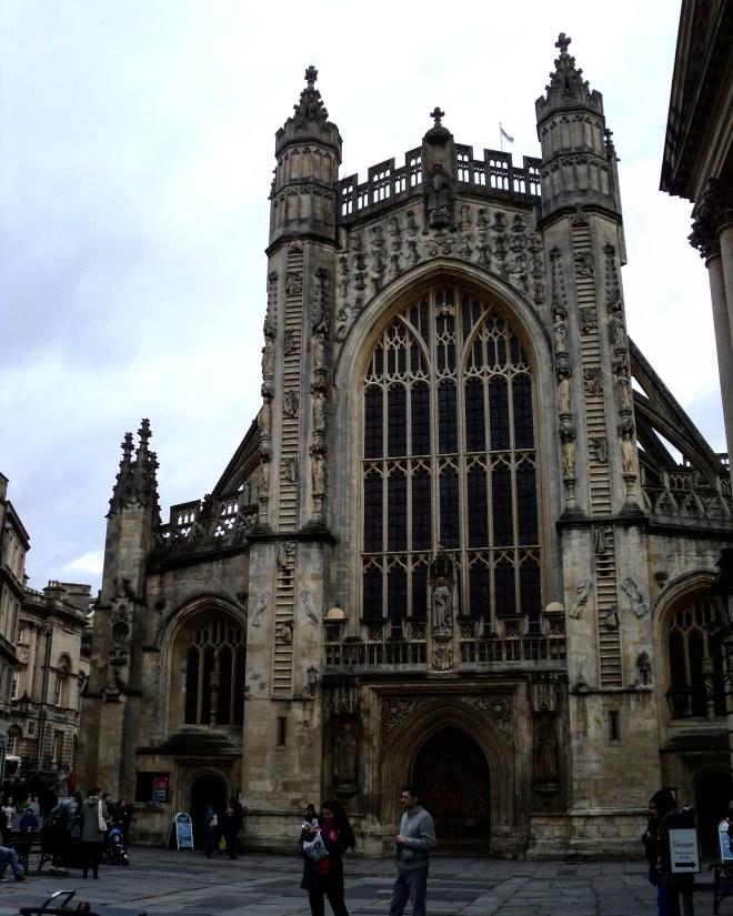 Abadia de Bath Inglaterra anjos escadas
