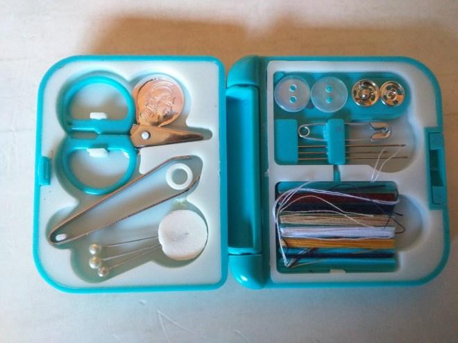 Mini kit de costura de viagem