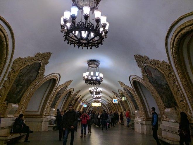Estação metro moscou kievskaya