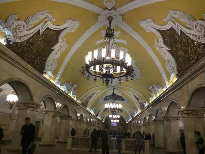 Estação metro moscou komsomolskaia