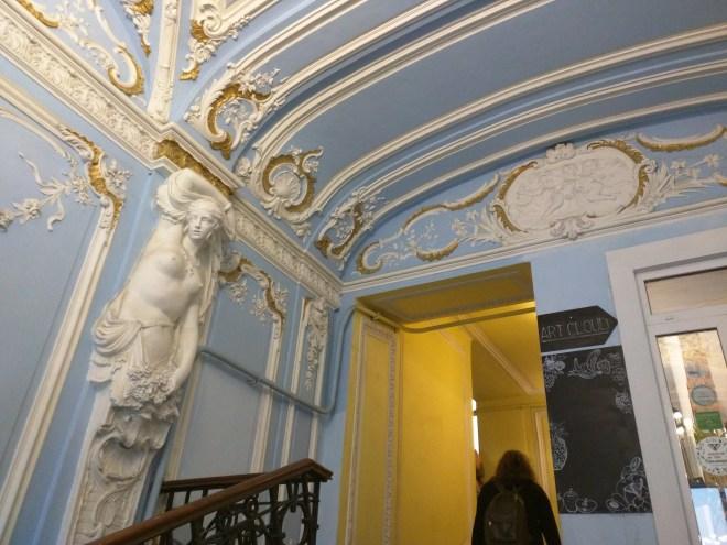 Petersburgo entrada de luxo de uma casa 2