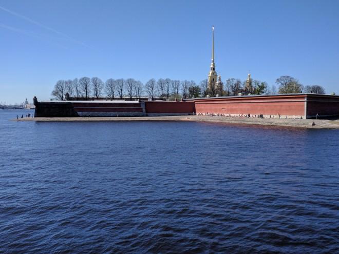 Petersburgo Fortaleza de Pedro e Paulo formato estrela