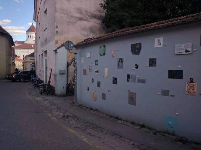 Rua da literatura Vilnius Lituania