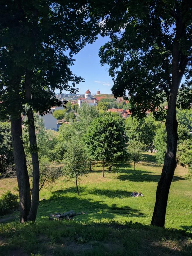 Vilnius Lituania parque vista centro