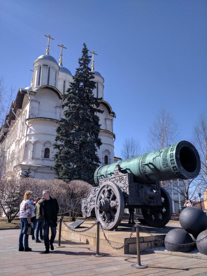 Kremlin Moscou canhão so tsar maior canhão mundo