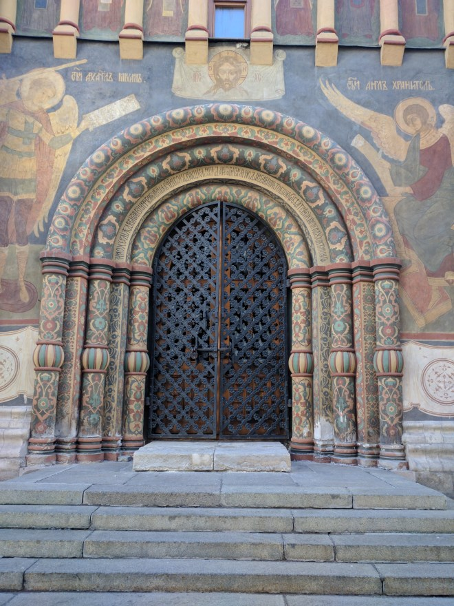 Kremlin Moscou Catedral da Dormição afrescos na porta
