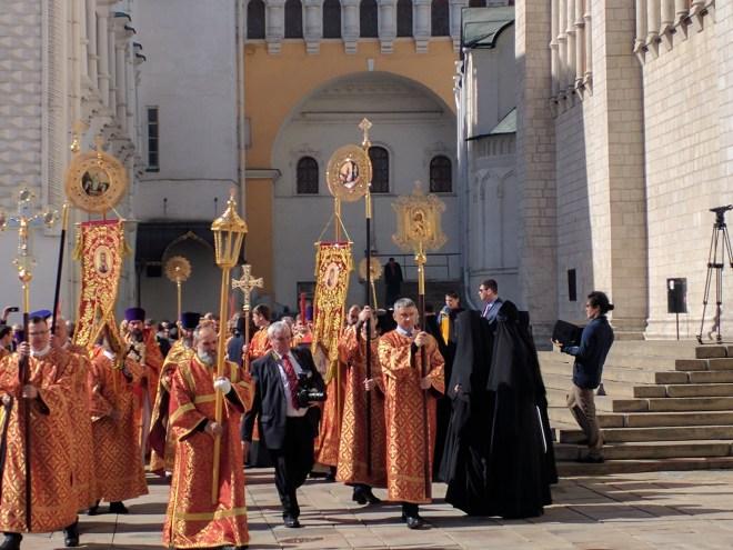 Kremlin Moscou missa de páscoa ortodoxa