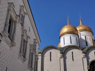 Kremlin Moscou Palacio das facetas com catedral da dormição