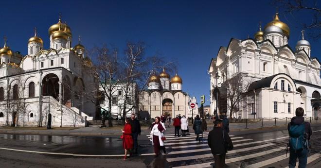 Kremlin Moscou panorama praça das catedrais