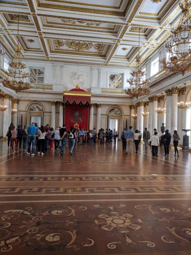 Petersburgo Hermitage sala do trono
