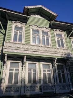 Petergof Russia Petersburgo casas de madeira