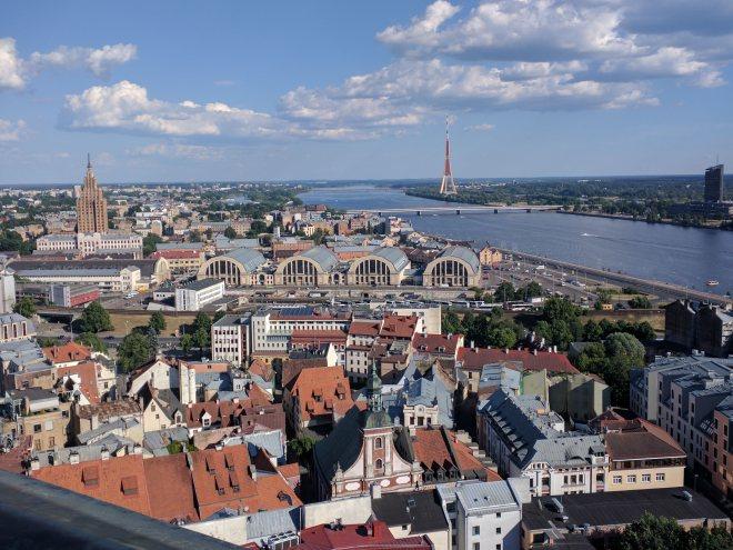 Riga Letonia igreja de são pedro vista