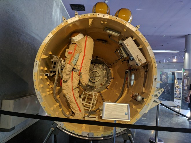 Moscou museu dos cosmonautas dentro da Soyuz