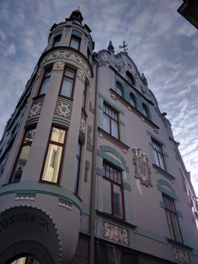 Tallinn centro historico predio art nouveau