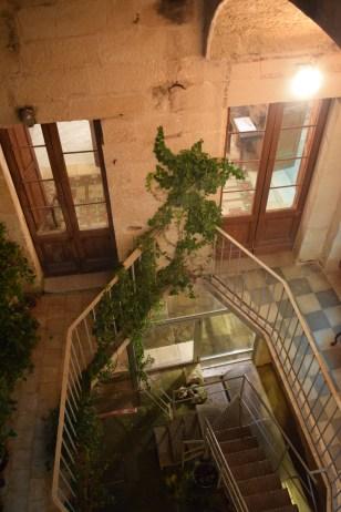 Lecce Puglia museu Faggiano escadas