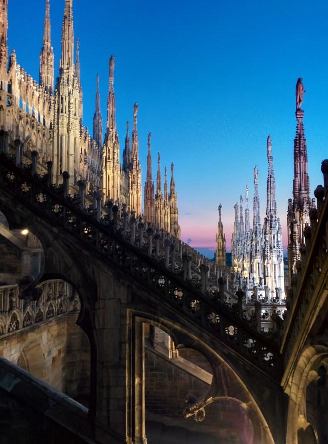 Milão Duomo terraços 1