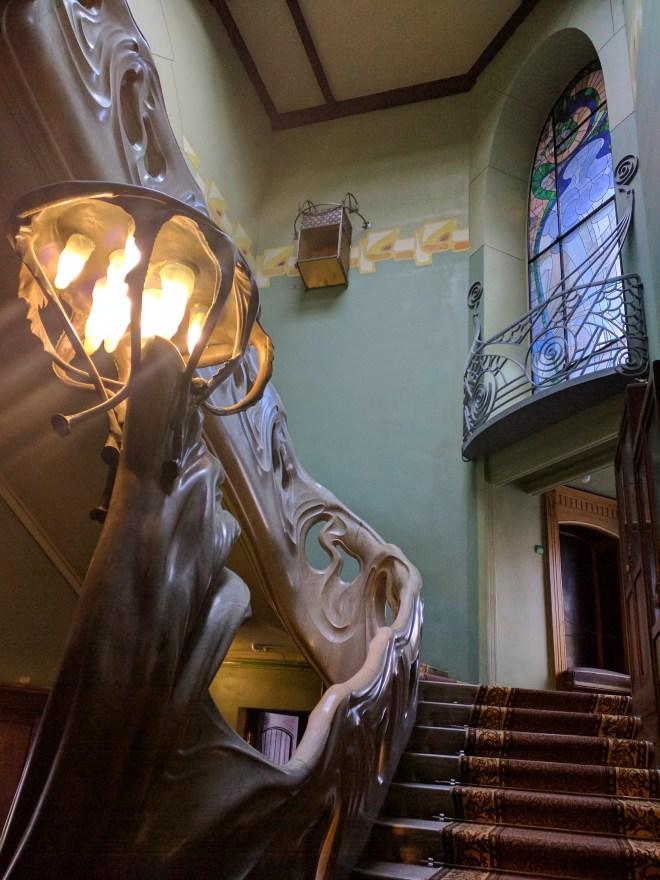 Moscou casa Gorki rumiantsev escadaria art nouveau
