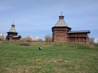 Moscou parque Kolomenskoye museu arquitetura madeira