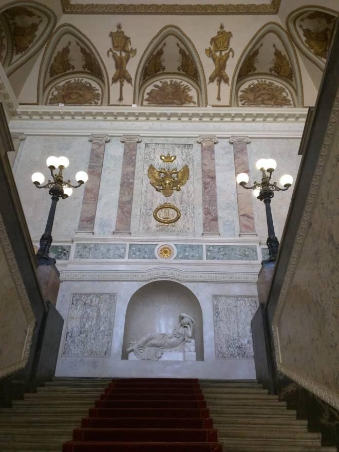 Petersburgo museu russo palacio de marmore escadaria
