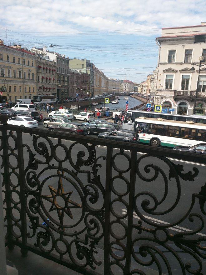 Petersburgo museu russo palacio stroganov vista do Moika