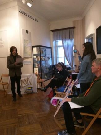 Petersburgo Noite dos Museus casa blok poeta declamação