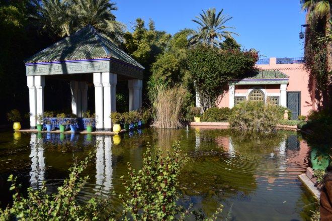 Marrakech Jardins Majorelle laguinho