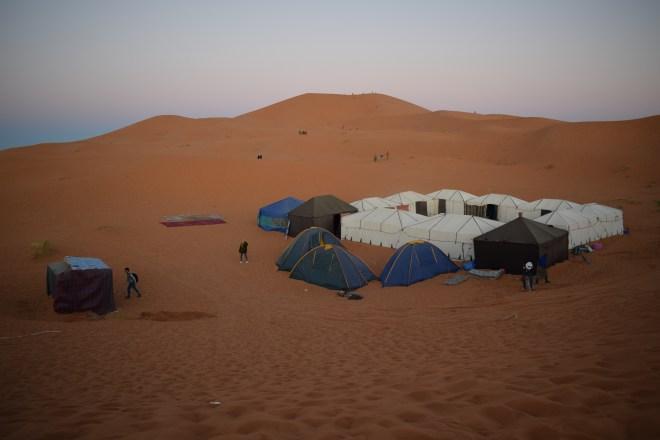 Saara Marrocos acampamento no deserto