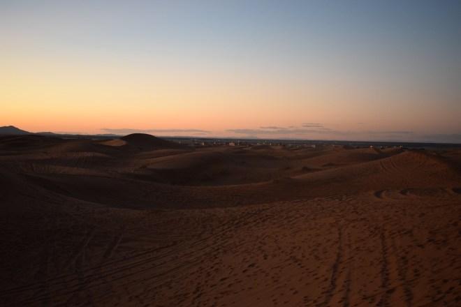 Saara Marrocos dunas por do sol
