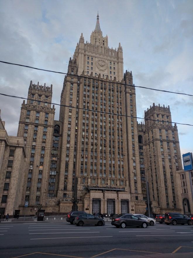 Sete irmãs arranha ceus moscou stalin ministerio assuntos estrangeiros