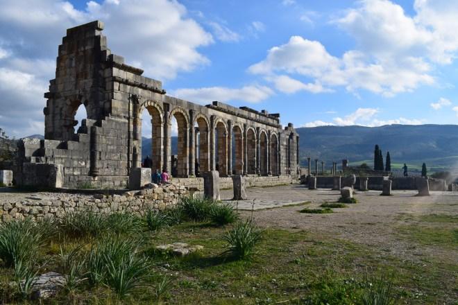 Volubilis ruinas romanas Marrocos Basilica 1