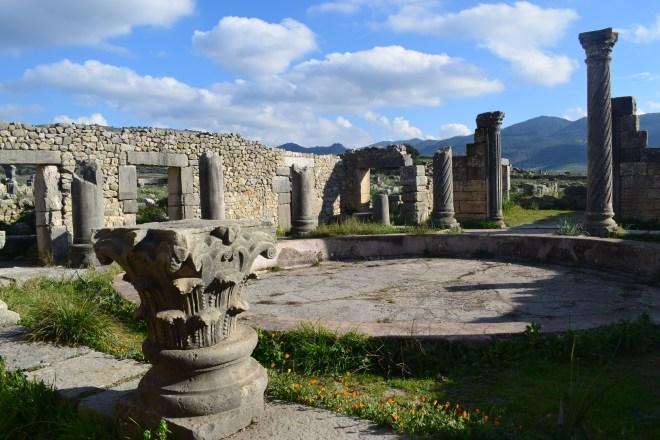 Volubilis ruinas romanas Marrocos casa das colunas