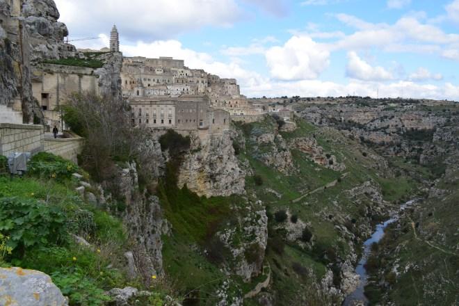 Matera sul itália vista com rio